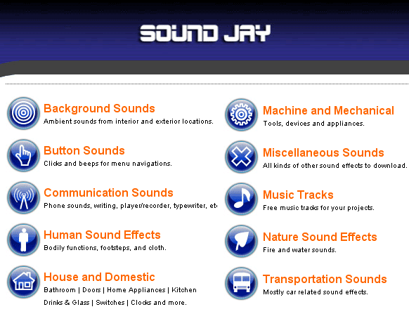 soundjay   SoundJay: Free Collection Of Sound Effects