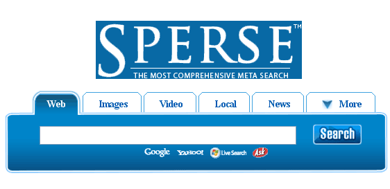 I Didn't Know That!!!: Sperse.com Meta Search Engine
