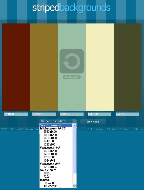make striped backgrounds
