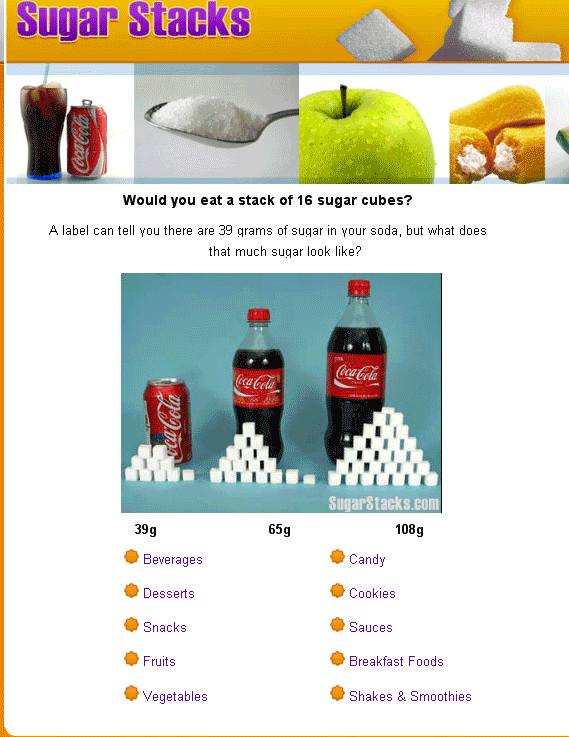 amount of sugar in foods