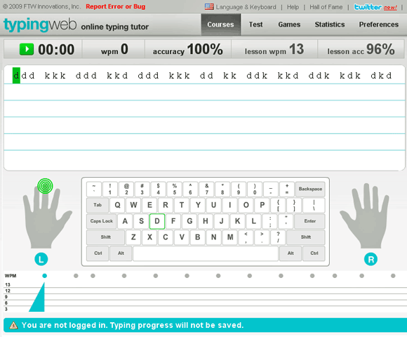 typingweb   TypingWeb: Learn Quick Typing Online