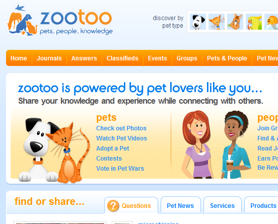 ZooToo: Social Networking For Pet Owners z