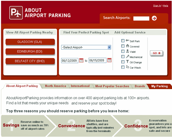 reserve parking online
