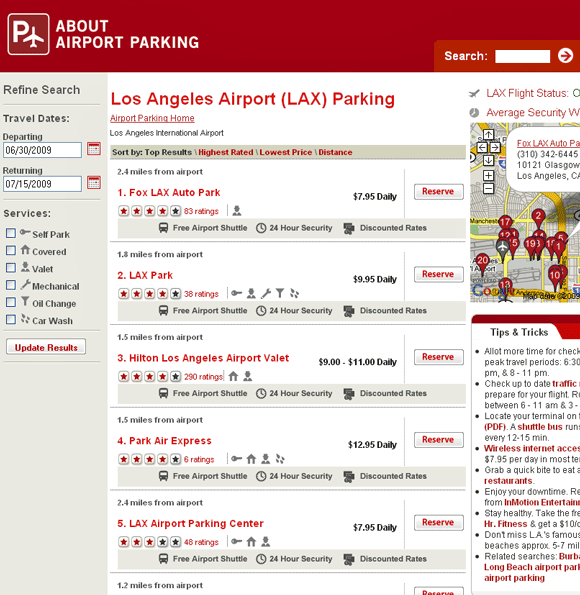 reserve airport parking