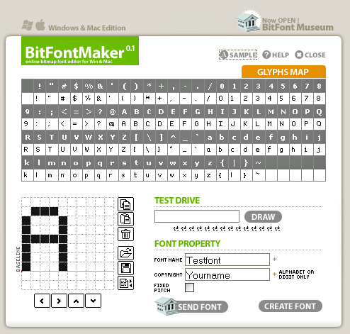 BitFontMaker: Online Pixel Font Creator