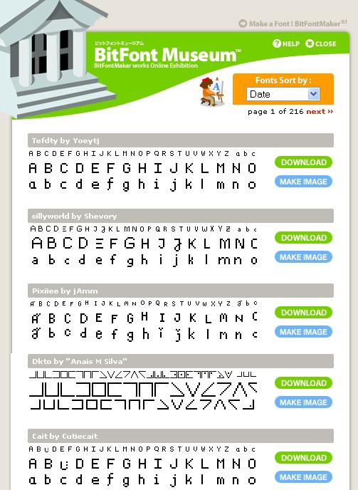 bitfontmaker1   BitFontMaker: Online Pixel Font Creator