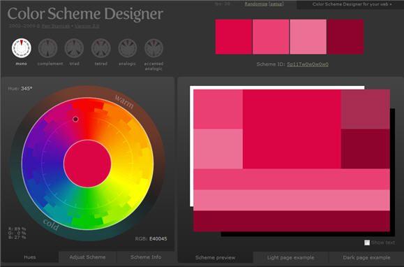 online color scheme picker
