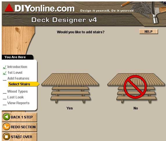 Deckdesigner design a deck online for free for Wood house design software