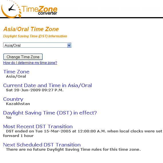 what is your time zone
