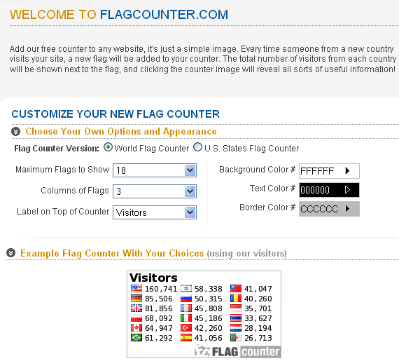 flag counter widget