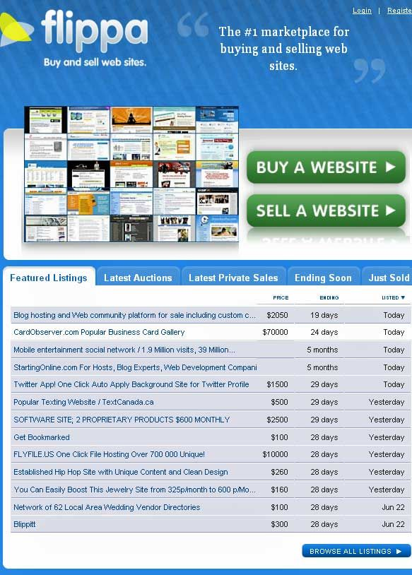 buying and selling websites
