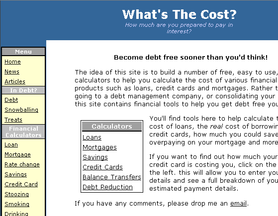free financial calculators