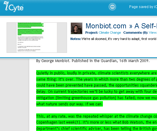 highlight text on a web page