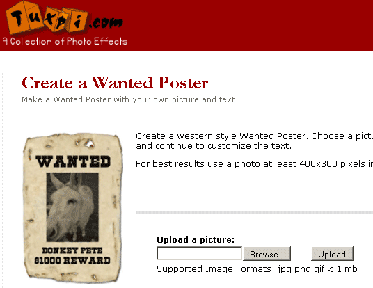 image144   Tuxpi: Make Your Own Wanted Poster