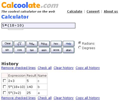 virtual scientific calculator