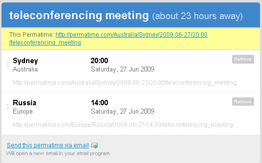 schedule meeting time