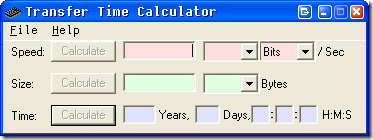 Measure File Transfer Speed With Transfer Time Calculator