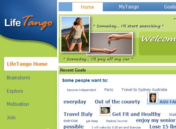 lifetango   LifeTango: Goal Sharing & Tracking Tool