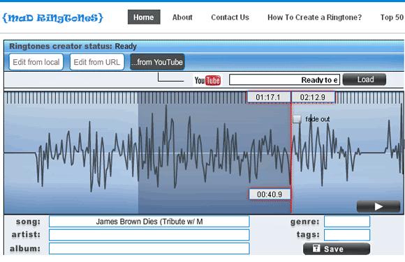 madremngtones   MadRingtones: Make Ringtones From Web Videos & MP3