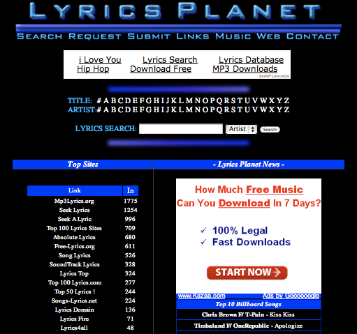 The Top 5 Sites to Find Song Lyrics Online