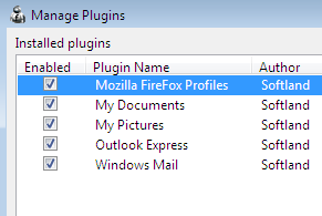 Backup Program Data & Personal Settings with FBackup pluginmanage