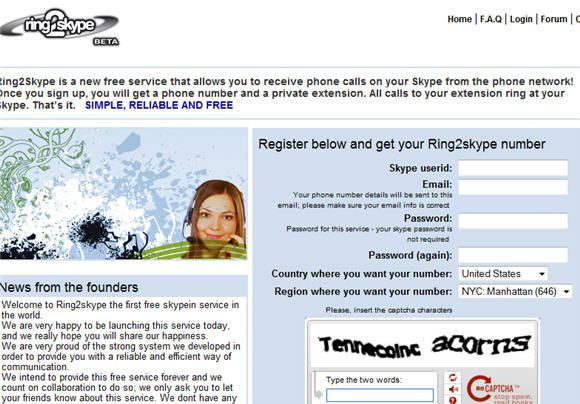 receive calls on skype from landline
