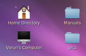 How to Put Home, Computer, Trash icons on Ubuntu Desktop shotcomp
