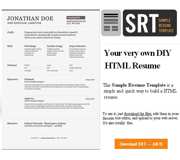 free sample resume template