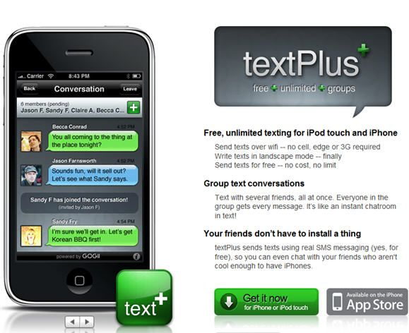 send free text from iphone
