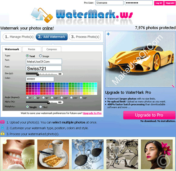 add watermarks to photos online