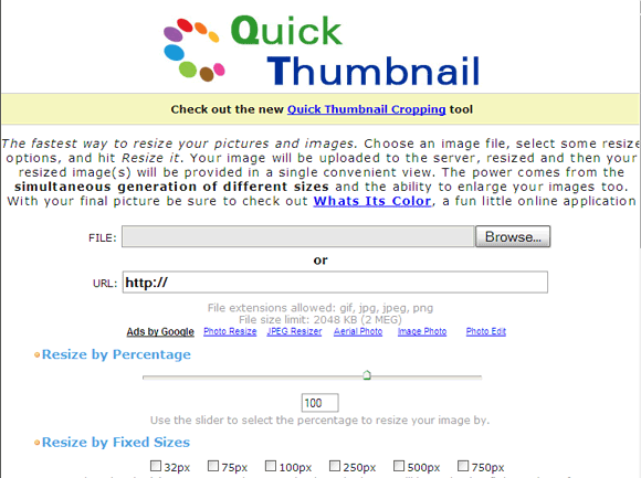 4 Free Thumbnail Generators To Create Quality Photo Thumbnails For Your Website 4 QuickThumbnail