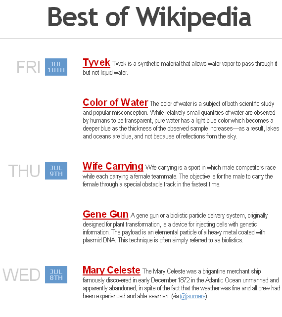 best of wikipedia
