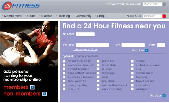 local fitness centres