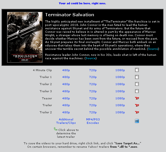 movie trailers free download