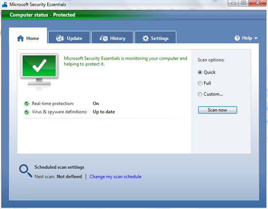 Free Security Suite for Windows: Microsoft Security Essentials image