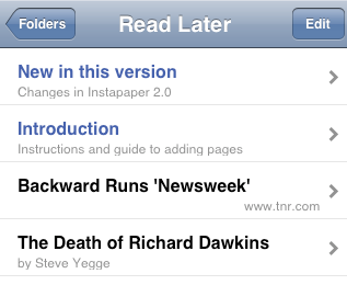 Manage Your Bookmarks & Reading List with Instapaper iphone app thumb