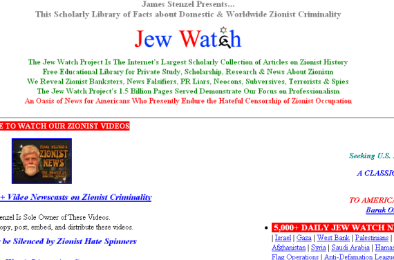 4 Rotten Websites That Everyone Should Hate jewwatch