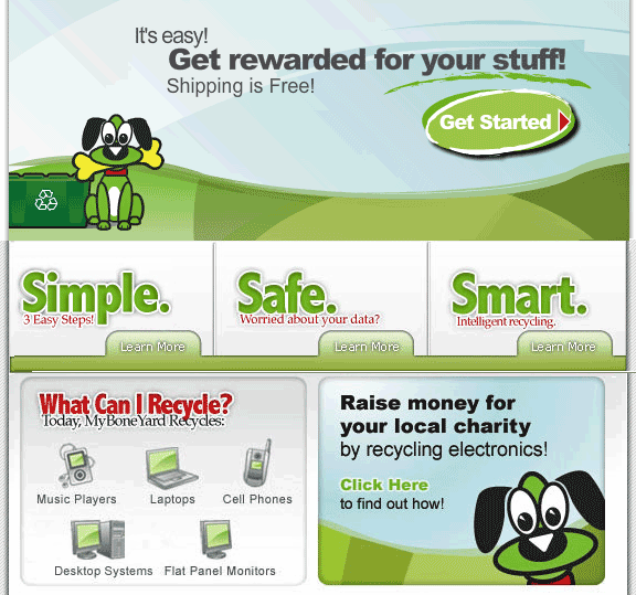 myboneyard   MyBoneYard: Recycle Your Old Electronics & Get Rewards