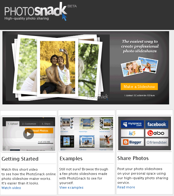 photosnack   PhotoSnack: Cool Picture Slideshow Maker
