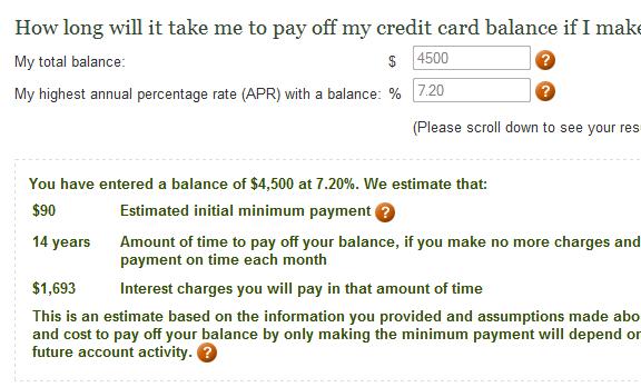 debt pay off calculator
