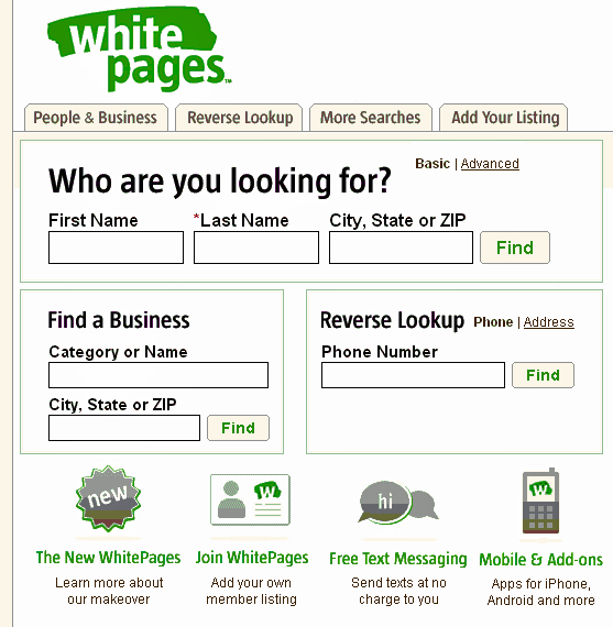 WhitePages: Address And Phone Number Look Up