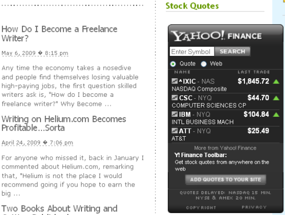 5 Free Website Stock Tickers for Financial Geeks yahoochart1
