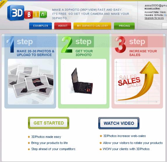 3dbin   3dBin: Make 3D Pictures Online