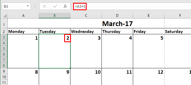 How to Make a Calendar Template in Excel Excel Calendar Template 5 670x300