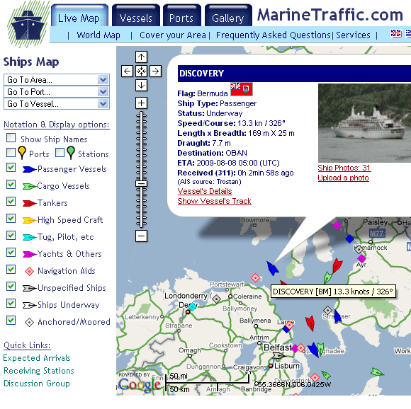 MarineTraffic   MarineTraffic: Real Time Yacht, Cruise & Cargo Ship Tracking