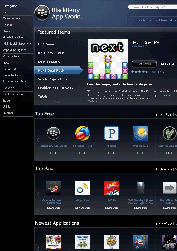 blackberryappworld   AppWorldBlackBerry: Directory of Paid & Free Applications for the BlackBerry
