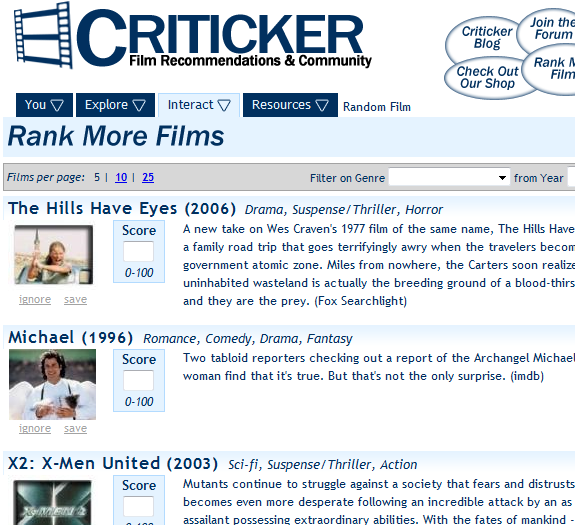 movie suggestion engine