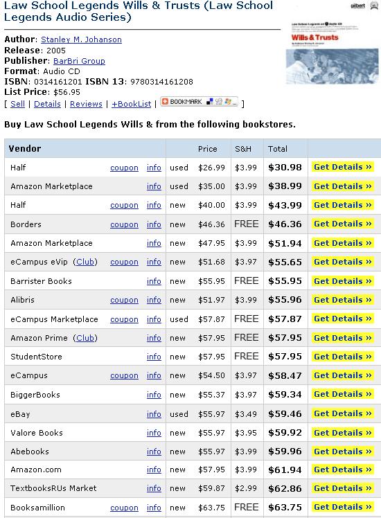 text book price comparison