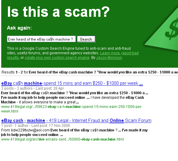 internet scams and hoaxes