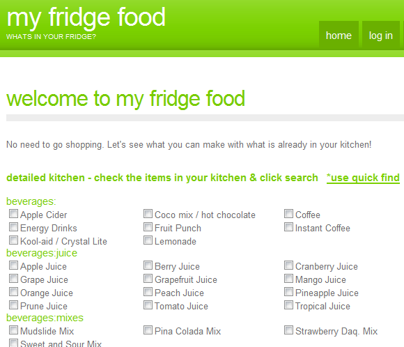 find recipes with ingredients you have